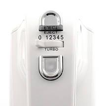 Миксер ручной Vitek VT-1423 White, 600W, міксер поларис, фото 3
