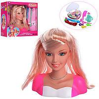Маникен для зачісок і макіяжу + косметика+шпильки,голова для зачісок