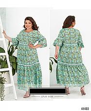 Платье женское летнее натуральное в пол размеры: 52-56, фото 3