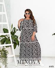 Платье женское летнее натуральное в пол размеры: 52-56, фото 2