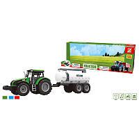 Трактор 550-58 J (36/2) 3 цвета, свет, звук, инерция, в коробке