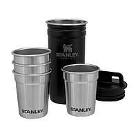 Набор Stanley Adventure Combo Matte Black: фляга та 4 рюмки