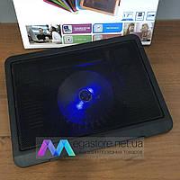 Охлаждающая подставка для ноутбука N191 с подсветкой охладитель вентилятором USB, фото 1