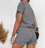 Летний костюм женский с шортами и блузой, разные цвета р.42-44,46-48 код 008L, фото 9