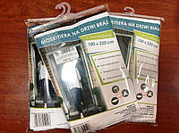 Сітка москітна на двері з магніт/ПАСКИ СІРІ/100х220см Фенікс Feniks