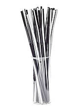 Трубочка Артистик чорно-біла d6, 26 см, 100 шт