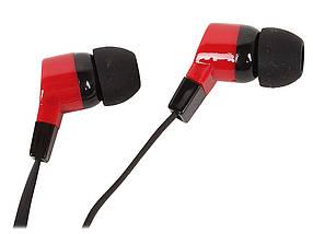 Навушники Defender Basic-619 чорно-червоні, вакуумні, дротові для телефону, навушники дефендер, фото 2