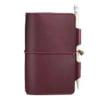 Женский кожаный блокнот (Софт-бук) Blanknote 3.0 бордовый, фото 1