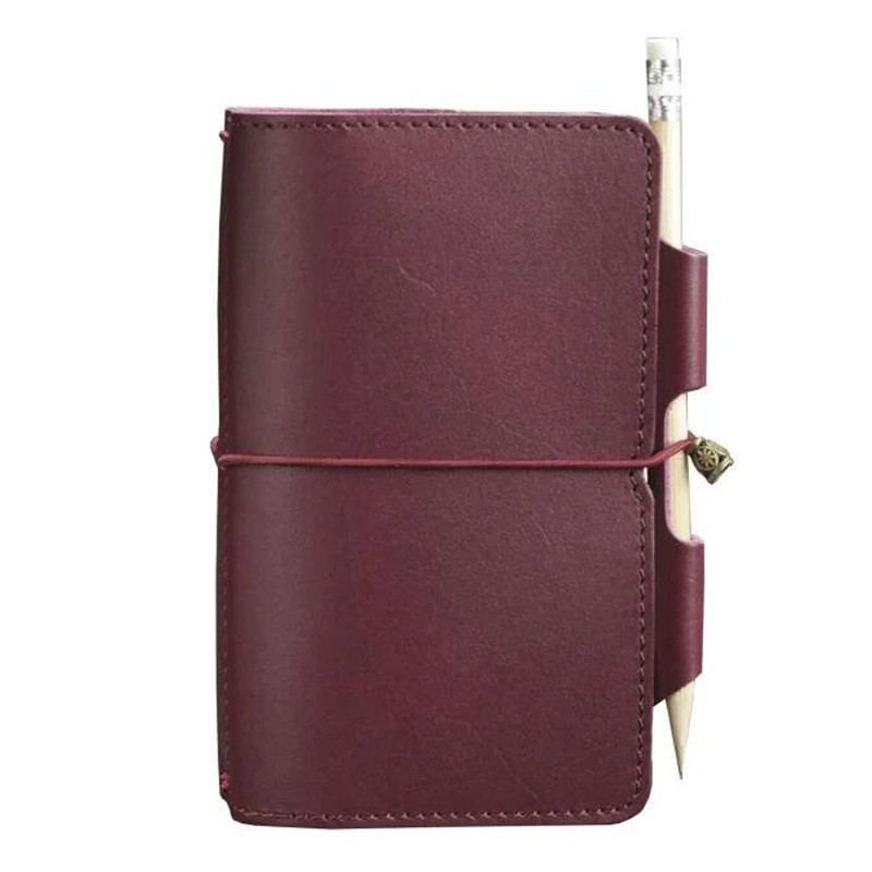 Женский кожаный блокнот (Софт-бук) Blanknote 3.0 бордовый