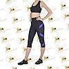 Женский спортивный комплект с фиолетовыми вставками из эластана, фото 2
