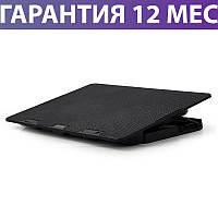 """Охлаждающая подставка для ноутбука 15.6"""" Gembird NBS-2F15-02, Black, 2 вентилятора, 355 х 255 х 30 мм"""