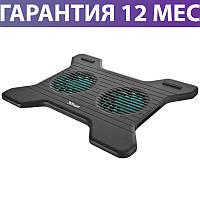 """Охлаждающая подставка для ноутбука 16"""" Trust Xstream Breeze, Black, 2 вентилятора, 230х300х15 мм"""