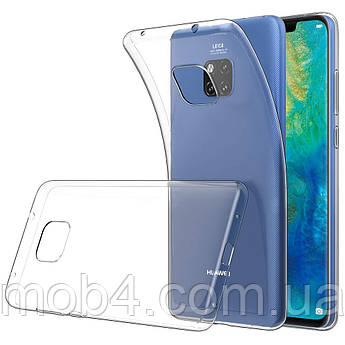 Силиконовый прозрачный чехол для Huawei (Хуавей) Mate 20 Pro