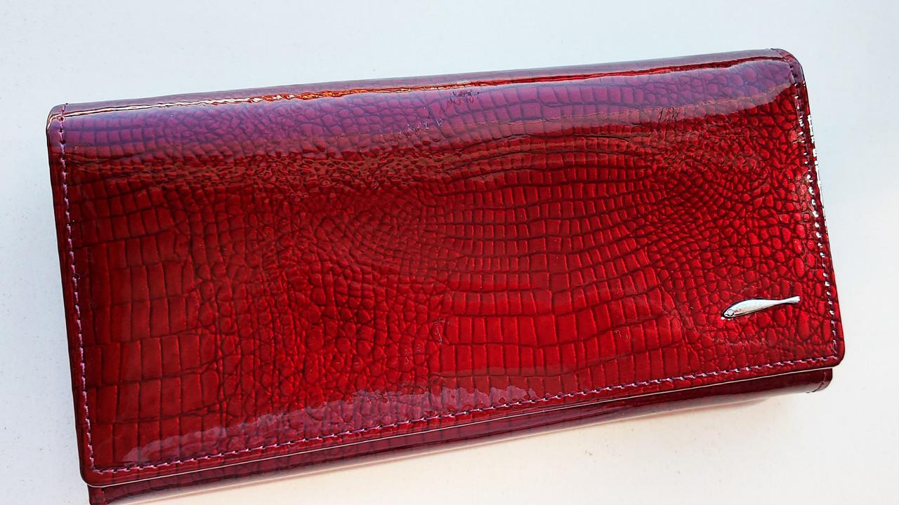 Женский кожаный кошелек Balisa 826-22 т.красный Кожаный женский кошелек на магните