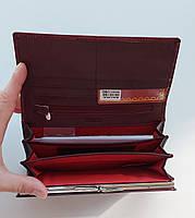 Женский кожаный кошелек Balisa 826-22 т.красный Кожаный женский кошелек на магните, фото 2