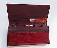 Женский кожаный кошелек Balisa 826-22 т.красный Кожаный женский кошелек на магните, фото 3