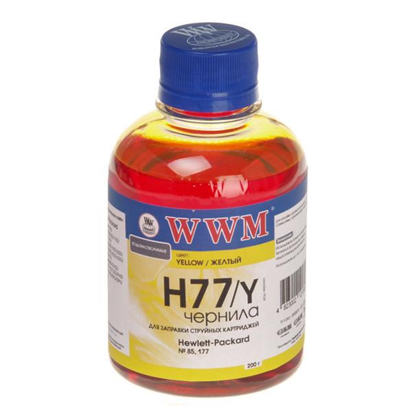 Чернила WWM HP 177/85, Yellow, 200 г (H77/Y), краска для принтера
