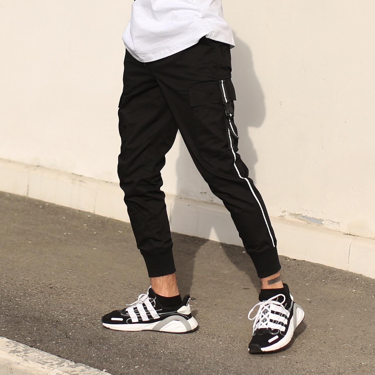 Штаны карго мужские черные бренд ТУР модель Фуджин TУRWEAR