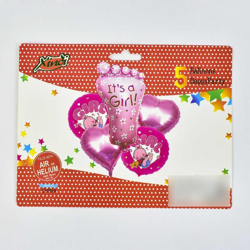 Набор фольгированных шаров C 31793 (500) 2 ЦВЕТА РОЗОВЫЙ И ГОЛУБОЙ в пакете