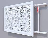 Декоративная решетка на батарею ГЛАДИОЛУС 1 SMARTWOOD | Экран для радиатора | Накладка на батарею 600*600