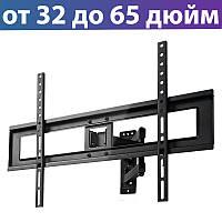 "Настенное крепление для телевизора 32-65"" Gembird WM-65RT-01, кронштейн на стену"