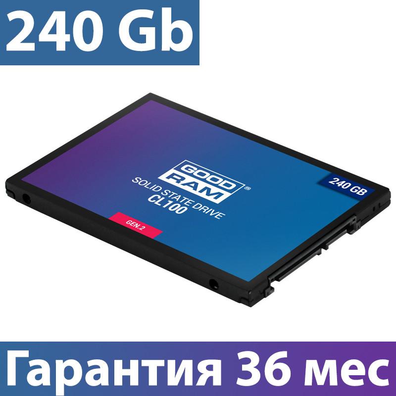 """SSD диск 240 Gb, Goodram CL100 (Gen.2), SATA 3, 2.5"""", TLC, 520/400 MB/s (SSDPR-CL100-240-G2), ссд для ноутбука"""