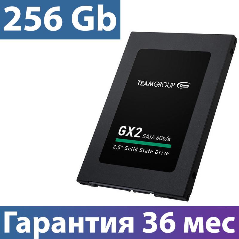 """SSD диск 256 Gb, Team GX2, SATA 3, 2.5"""", TLC, 500/400 MB/s (T253X2256G0C101), ссд для ноутбука"""