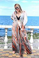 Женская пляжная туника. Парео батал,большие размеры