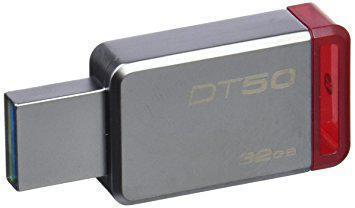 Флешка USB 3.0 32 Gb Kingston 50 Red / 32/6Mbps / DT50/32 Gb