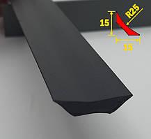 Галтель для коннелюрного плинтуса 15х15, 2,5 м Чёрная