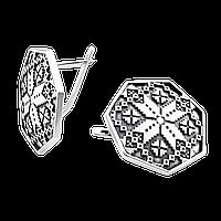 Серебряные серьги Орнамент