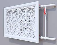 Декоративная решетка на батарею ГЛАДИОЛУС 3 SMARTWOOD | Экран для радиатора | Накладка на батарею 600*600