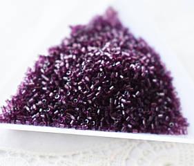 Бисер чешский 1.3-1.3 микрорубка, Preciosa, аметист, 5грамм