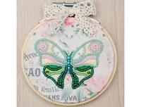 """Набор для вышивки бисером и шелковым мулине на пяльцах """"Бабочка"""" (Код: ВК-1040)"""