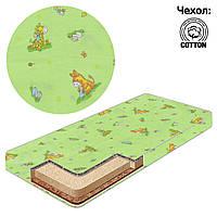 Матрас Беби-Текс кокос-поролон-гречка-хлопок 1 Ослик-жираф зеленый SKL11-223626