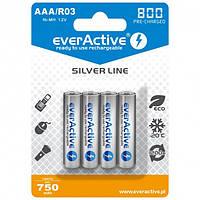Аккумуляторы ААА, 800 mAh, everActive, 4 шт, 1.2V, Blister (EVHRL03-800)