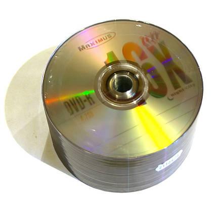 Диски DVD-R 50 шт. Maximus, 4.7Gb, 16x, Bulk Box, фото 2