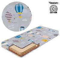 Матрас Беби-Текс кокос-поролон-гречка-хлопок 1 Воздушный шарик серый SKL11-223615