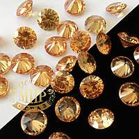 Фианит(кубический циркон) 10мм, цвет Golden Shadow, цена 1шт