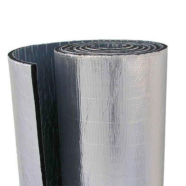 Каучук фольгированный RC Алюхолст с клеем 6 мм рулон 15 м. кв.