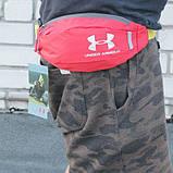 Поясная сумка Under Armour (красная) сумка на пояс, фото 6
