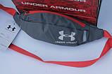 Поясная сумка Under Armour (серая) сумка на пояс, фото 5