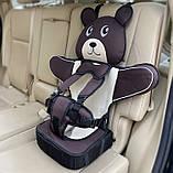 Детское Бескаркасное Автокресло в форме Медвежонка (Цвет Красный), фото 2