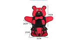 Детское Бескаркасное Автокресло в форме Медвежонка (Цвет Красный), фото 4