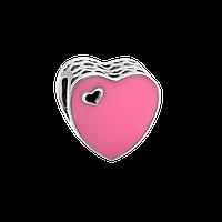 Шарм срібний сердечко