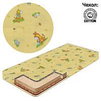 Матрас Беби-Текс кокос-поролон-гречка-хлопок 1 Ослик-жираф желтый SKL11-223625