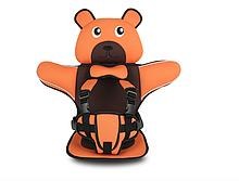 Детское Бескаркасное Автокресло в форме Медвежонка (Цвет Оранжевый)