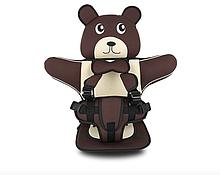 Детское Бескаркасное Автокресло в форме Медвежонка (Цвет Коричневый)