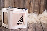 """Ящик 4MAN. Подарочная коробка. Свой ящик """"4Man"""" 25х25х25 см. Оригинальный бокс для мужских подарков"""