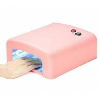 Ультрафиолетовая высокоэффективная лампа 818 розовая для наращивания ногтей на 36 Вт, гель лака, сушка